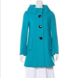Kate spade turquoise coat xs 0